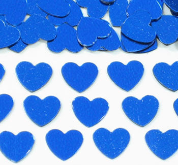 Table Scatters Hearts - Blue/13mm