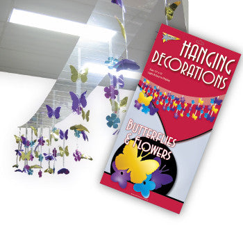 Hanging Decorations Butterflies & Flowers