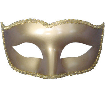 Classic Eye Shape Mask-Gold Gloss