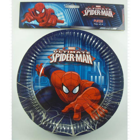 Spider Man Paper Dinner Plates (8 pack)