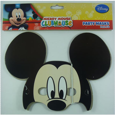 Mickey Mouse Party Masks (8 pack)