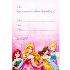 Disney Princess Party Invitations (8 pack)