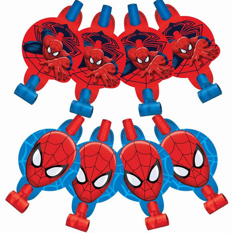 Spider Man Party Blowouts (8 pack)