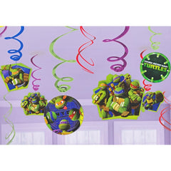 Teenage Mutant Ninja Turtles Swirl Decorations (12 pack)