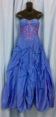 Ball Room Gown - Blue Strapless (Hire Only)
