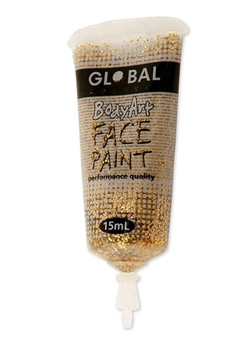 Body Art Face Paint - Gold Glitter - 15ml