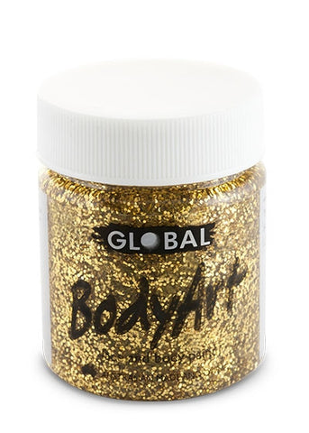 Body Art Face Paint - Gold Glitter - 45ml