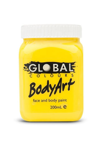 Body Art Face Paint - Yellow - 200ml