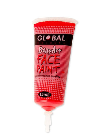 Body Art Face Paint - Brilliant Red - 15ml