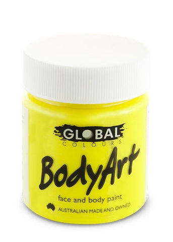 Body Art Face Paint - Flouro Yellow - 45ml