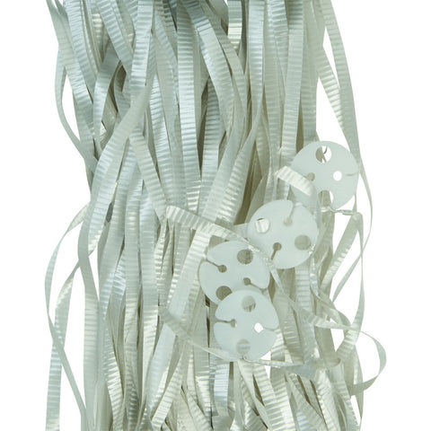 Balloon Ribbons - Silver (25 pack)