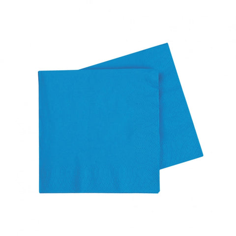 Electric Blue Cocktail Napkins (40 pack)
