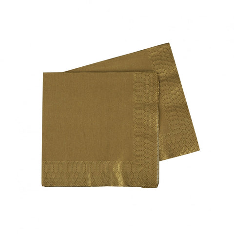 Metallic Gold Cocktail Napkins (40 pack)