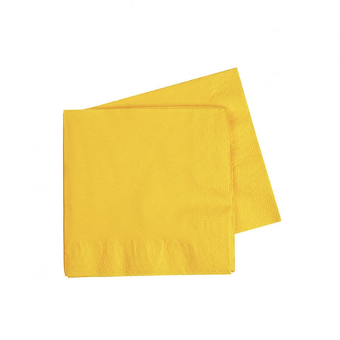 Yellow Cocktail Napkins (50 pack)
