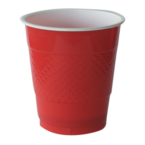 Apple Red Plastic Cups (20 pack)