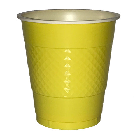 Yellow Plastic Cups (20 pack)