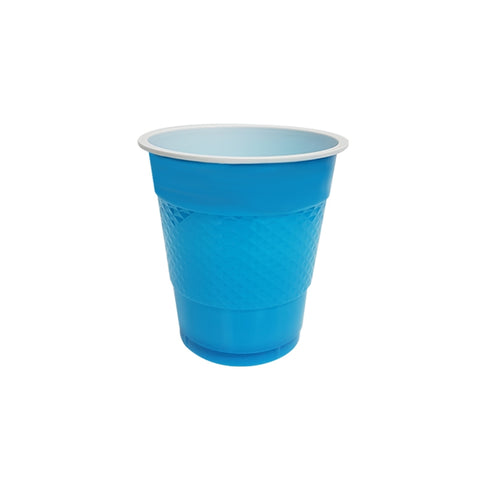 Electric Blue Plastic Cups (20 pack)