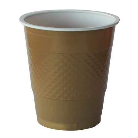 Metalic Gold Plastic Cups (20 pack)