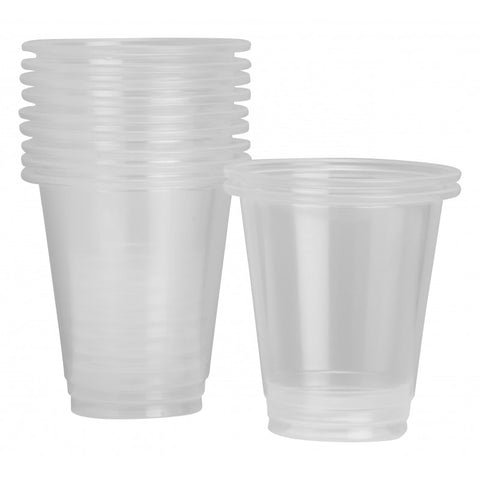 225ml Clear Plastic Cups (50 pack)