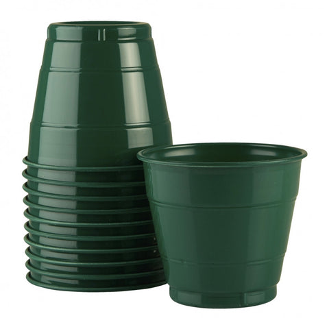 Hunter Green Plastic Cups (25 pack)