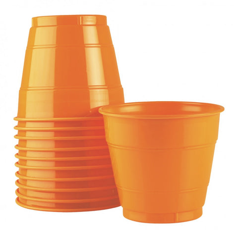 Orange Plastic Cups (25 pack)