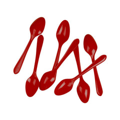 Apple Red Plastic Desert Spoons (20 pack)