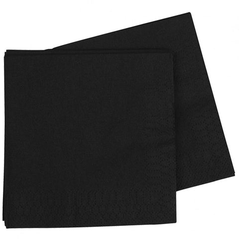 Black Dinner Napkins (40 pack)