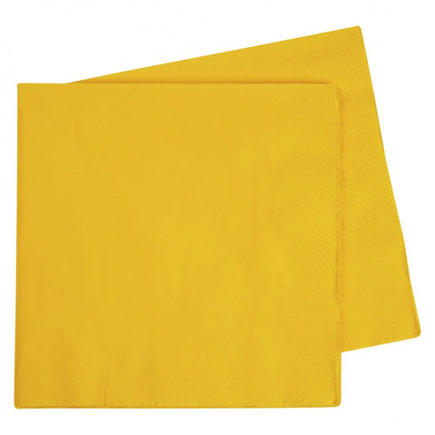 Yellow Dinner Napkins (40 pack)