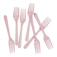 Classic Pink Plastic Forks (20 pack)