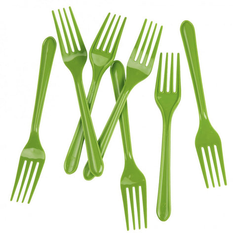 Lime Green Plastic Forks (20 pack)