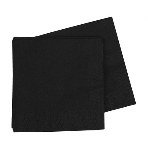 Black Luncheon Napkins (40 pack)