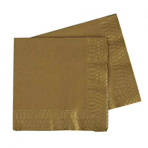 Metallic Gold Luncheon Napkins (40 pack)