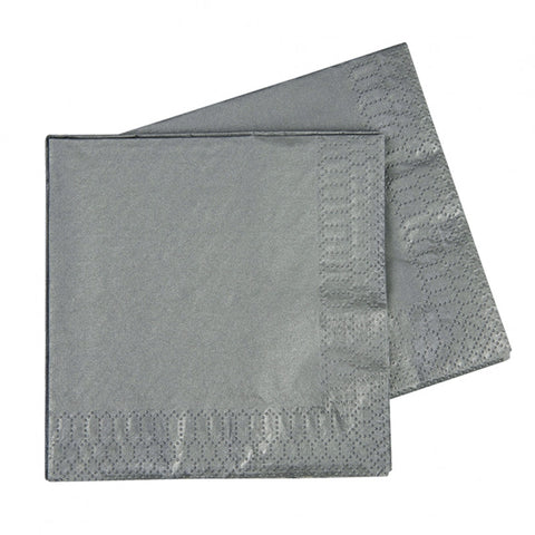 Metallic Silver Luncheon Napkins (40 pack)