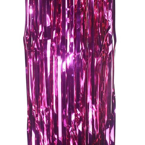 Foil Curtain - Hot Pink