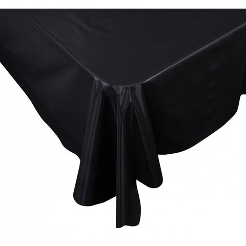 Black Plastic Table Cover - Rectangle