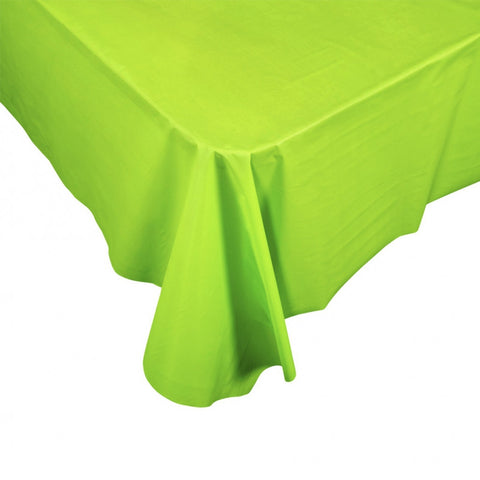 Lime Green Plastic Table Cover - Rectangle