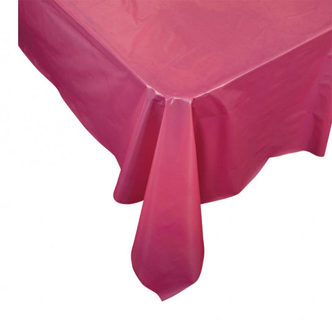 Magenta Plastic Table Cover - Rectangle