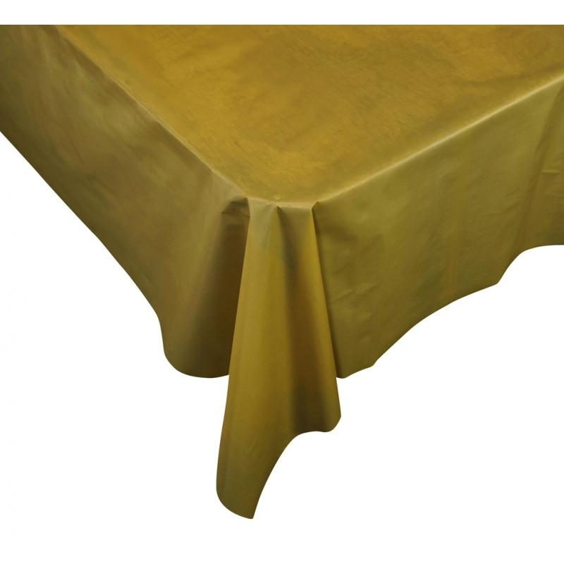 Metalic Gold Plastic Table Cover Rectangle Party Things Online