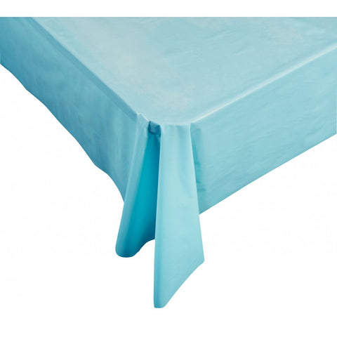 Pastel Blue Plastic Table Cover - Rectangle