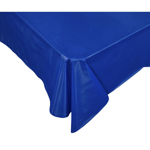True Blue Plastic Table Cover - Rectangle