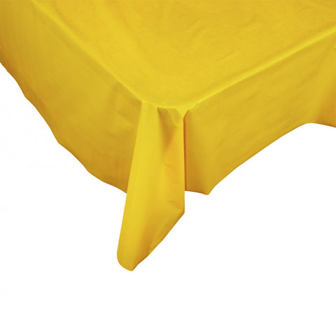 Yellow Plastic Table Cover - Rectangle