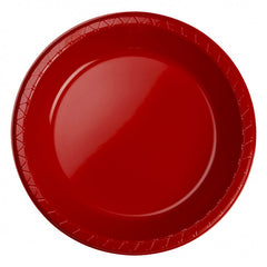 Apple Red Plastic Banquet Plates (25 Pack)