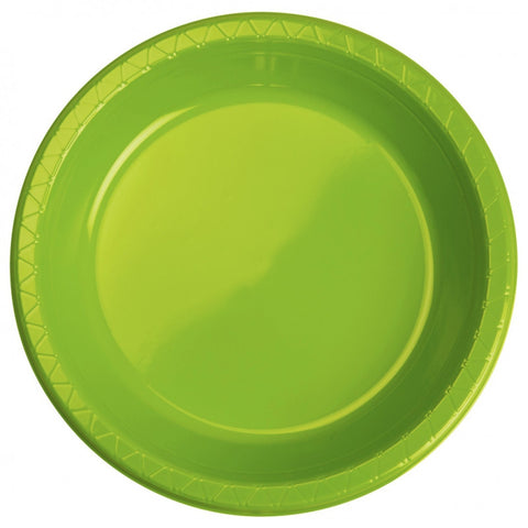 Lime Green Plastic Banquet Plates (25 pack)