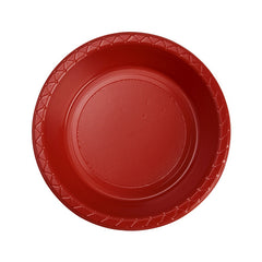 Apple Red Plastic Dessert Bowls (25 Packs)