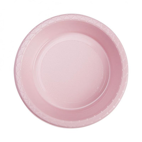 Classic Pink Plastic Dessert Bowls (20 Pack)