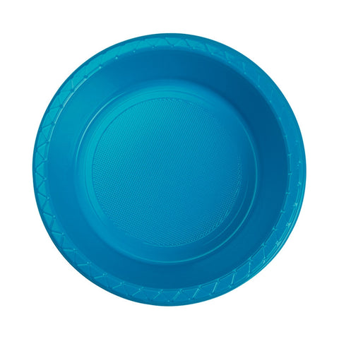 Electric Blue Plastic Dessert Bowls (20 Pack)