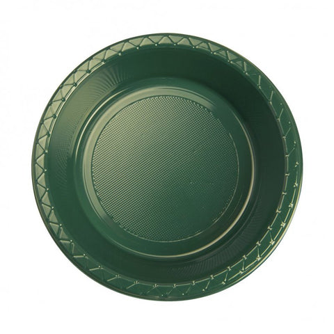 Hunter Green Plastic Dessert Bowls (25 Pack)