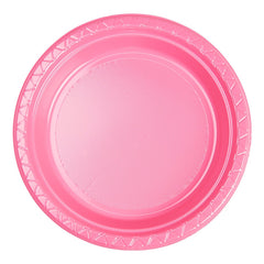 Candy Pink Plastic Dinner Plates (25 Pack)