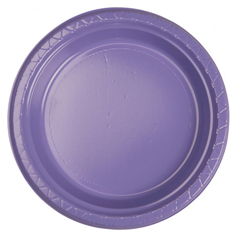 Lilac Plastic Dinner Plates (25 Pack)