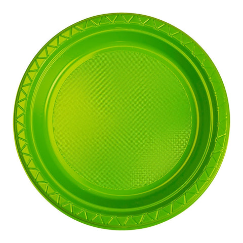Lime Green Plastic Dinner Plates (20 Pack)
